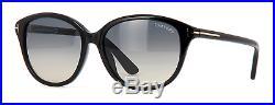 Tom Ford Karmen TF329 TF 329 FT0329 01B Black Frame Grey Gradient Sunglasses