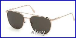 Tom Ford Kip FT0692 28A Sunglasses Gold Frame Grey Lenses 61mm TF692