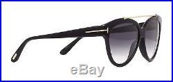 8f48abf226b2 Tom Ford LIVIA FT 0518 black grey shaded (01B) Sunglasses