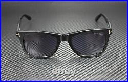 Tom Ford Leo FT0336 01V Shiny Black Blue 52 mm Men's Sunglasses