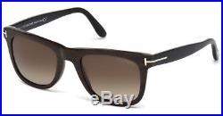 Tom Ford Leo Sunglasses Shiny Brown Wood Black Roviex Brown Gradient Ft 0336 05k