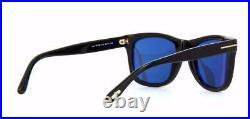 Tom Ford Leo TF 9336 01V Black Sunglasses Sonnenbrille Blue Lens Size 52