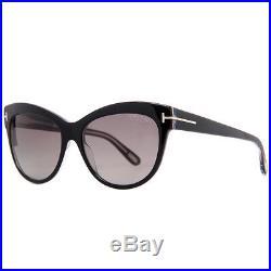 295e4aeaba Tom Ford Lily TF 430 05D Black Women s Polarized Cat Eye Sunglasses ...