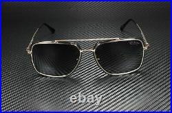 Tom Ford Lionel FT0750 01D Rose Gold Black Polarized Smoke 60mm Men's Sunglasses