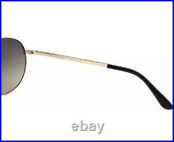 Tom Ford Marko FT0144 TF 144 28D Gold Brown Polarized Lens Men Sunglasses