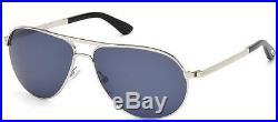 Tom Ford Marko TF0144-18V Shiny Silver / Blue Sunglasses James Bond 007 Skyfall