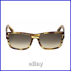 Tom Ford Mason Mens FT0445-50B Sunglasses Dark Brown Striped Honey