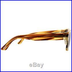 Tom Ford Mason TF 0445 50B Dark Brown Striated Plastic Sunglasses Grey Gradient