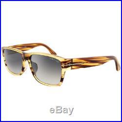 Tom Ford Mason TF0445 50B Dark Brown Striated Plastic Sunglasses Grey Gradient