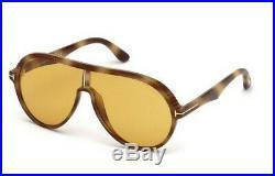 Tom Ford Men AVIATOR Sunglasses FT0647 MONTGOMERY-02 57E Beige Havana/Brown New