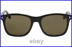 Tom Ford Men's Eric-02 TF595 TF/595 01J Black Fashion Square Sunglasses 55mm