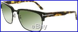 Tom Ford Men's FT0367-02B-57 Black Square Sunglasses