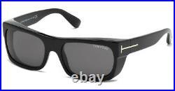 Tom Ford Men's FT0440-01A-56 Toby 56mm Shiny Black Sunglasses