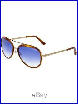 Tom Ford Men's Gradient Andy FT0468-56W-58 Gold Aviator Sunglasses