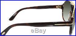 Tom Ford Men's Gradient Dimitry FT0334-56K-59 Tortoiseshell Oval Sunglasses