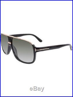 Tom Ford Men's Gradient Elliot FT0335-01P-60 Grey Aviator Sunglasses