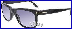 Tom Ford Men's Leo FT0336-01V-52 Black Square Sunglasses