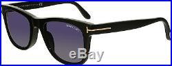 Tom Ford Men's Leo FT9336-01V-52 Black Square Sunglasses
