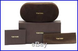 Tom Ford Men's Leo TF9336 TF/9336 05K Brown Horn/Black Square Sunglasses 52mm
