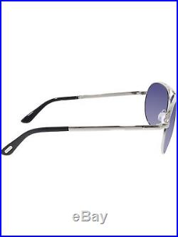 Tom Ford Men's Marko FT0144-18V-58 Silver Aviator Sunglasses