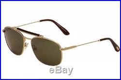 Tom Ford Men's Marlon TF339 TF/339 28N Gold/Brown Polarized Sunglasses 57mm