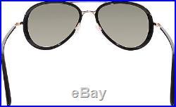 Tom Ford Men's Miles FT0341-28J-55 Black Aviator Sunglasses