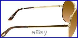 Tom Ford Men's Polarized FT0035-28H-62 Gold Aviator Sunglasses