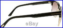 Tom Ford Men's Polarized FT0367-01D-57 Black Square Sunglasses