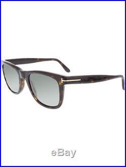 059a875b8c45c Tom Ford Men s Polarized Leo FT0336-56R-52 Tortoiseshell Square Sunglasses