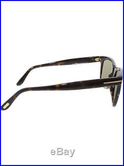 da75b2cb7c604 Tom Ford Men s Polarized Leo FT0336-56R-52 Tortoiseshell Square Sunglasses
