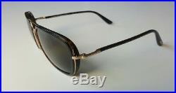 Tom Ford Men's Riccardo Tf 340 28n Havana Gold Sunglasses Made In Italy