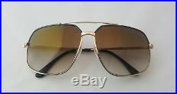 Tom Ford Men's Ronnie Tf 439 01g Black Gold Metal Sunglasses Made In Italy