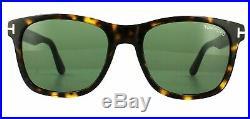 Tom Ford Men's Sunglasses TF0595-F Eric-02 52N Havana/Green Asian Fit New 55mm