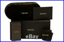 Tom Ford Men's TF334 TF/334 02W Matte Black/Silver Pilot Sunglasses 59mm