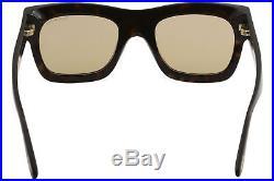 666cfdb6f1243 Tom Ford Men s Wagner-02 TF558 TF 558 52E Havana Fashion Square Sunglasses  52mm