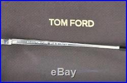 Tom Ford Men's William TF207 17V Palladium Blue Sunglasses James Bond AUTHENTIC