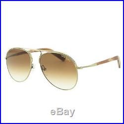 Tom Ford Mens Cody Aviator Sunglasses, 56mm Brown Gold 100% Authentic $350