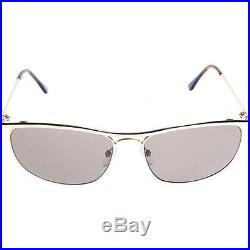 Tom Ford Mens FT0287-28J Tate Sunglasses Rose Gold Frame Brown Lens