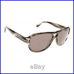Tom Ford Mens FT0446-20A Dylan Sunglasses Gray Frame Smoke Lens