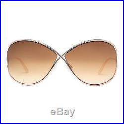 Tom Ford Miranda TF 130 28F Rose Gold/Brown Gradient Women's Round Sunglasses