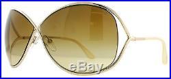 Tom Ford Miranda TF130 28F Rose Gold Womens Oversized Soft Square Sunglasses