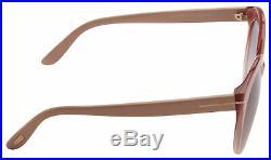 Tom Ford Monica Women's Sunglasses FT0429 74F Pink/ Beige Brown Gradient Lens