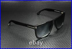Tom Ford Morgan FT0513 01W Shiny Black Gradient Blue 57 mm Unisex Sunglasses