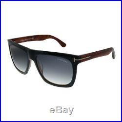 Tom Ford Morgan TF 513 05B Black Plastic Sunglasses Turquoise Gradient Lens