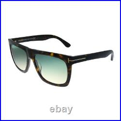 Tom Ford Morgan TF 513 52W Dark Havana Plastic Sunglasses Grey Gradient Lens