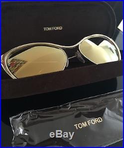 Tom Ford Nastasya Designer Women's Cat Eye FT0304 Sunglasses Gold 56mm