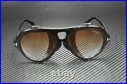 Tom Ford Neughman FT0882 01B Shiny Black Gradient Amber 60 mm Men's Sunglasses