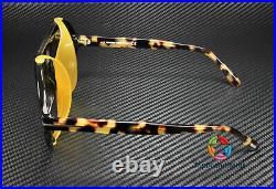 Tom Ford Neughman FT0882 01E Milky Amber Shiny Tortoise 60 mm Men's Sunglasses