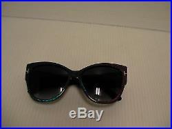 Tom Ford New Sunglasses TF371 Womens Anoushka 82W Magenta Blue FT0371/S