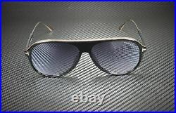 Tom Ford Nicholai-02 FT0624 01C Shiny Black Smoke Mirror 57 mm Men's Sunglasses